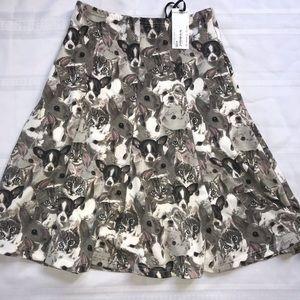 ModCloth Frock Shop Animal Skirt new nwt retro